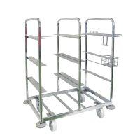 Rollbehälter zur Kommissionierung, 8 Fächer, 4 Lenkrollen 1085x700x1170mm