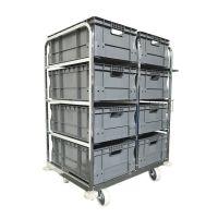 Rollbehälter zur Kommissionierung – Inkl. 8 x Euronorm-Behälter