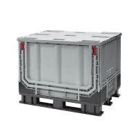Palettenbox 1211x811x902mm - 590 liter, Kunststoff, faltbar