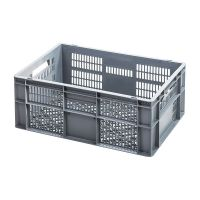 Euronorm Stapelbehälter, 47 Liter Kapazität, durchbrochen,  600x400x240mm