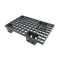 Kunststoffpalette, offenes Deck, nestbar, 4 Füße, 600x400x120mm
