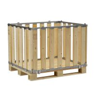 Palettenbox, MP BOX, zerlegbar, 1200x1000x800mm