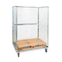 Rollbehälter, 3-seitig, für Europaletten, 1350x950x1820mm