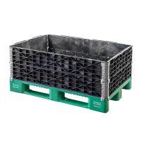 Aufsatzrahmen Kunststoff, faltbar, 4 Scharniere, 1200x800x200mm