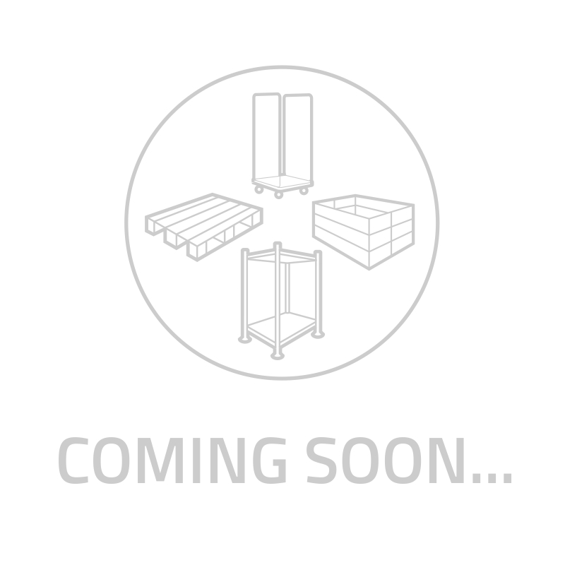 Gitterbox, 1000 kg Tragkraft, Längsseite halb offen, 1200x800x675mm