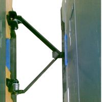 Kopplungssystem für Pally Kunststoffpalette auf Rädern